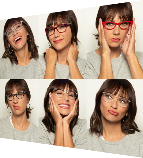 Compare your products with OIC try on glasses